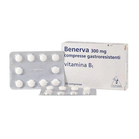 Купить Бенерва (тиамина хлорид в таблетках) 300мг №20 в Самаре